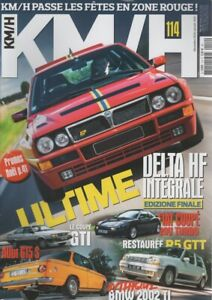 KM/H 114 DELTA HF INTEGRALE EVO 2 FIAT COUPE 20V TURBO PLUS BMW 2002 Ti AUDI GT5