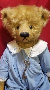 """Patti Tieri """"Edward"""" artist teddy bear mohair 18"""" OOAK Dearheart Bears"""