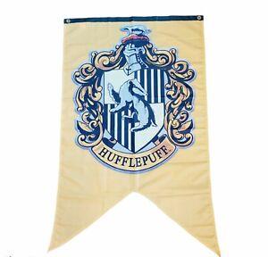 "Hogwarts Harry Potter Hufflepuff Banner of Honor, Flag. Large 48"" Long 30"" Wide"