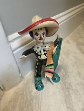 Vintage Clown Mariachi Made in Mexico Collectible Rare Sombrero Colorful