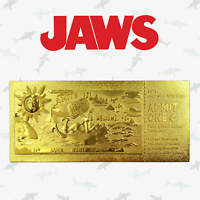 Rare JAWS Amity Island Regatta 24K Gold Plated Ticket Limited to1975 New