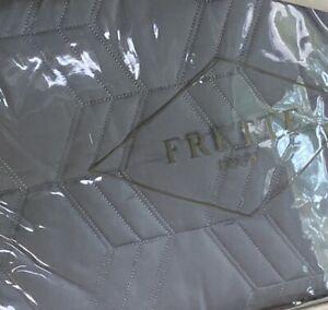 """NEW Frette Dolomites Euro Decorative Sham, Cotton, Dark & Light Gray, 26""""X26"""""""