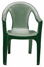 Poltrona da giardino in plastica Tressi impilabile verde sedia tressi (6 pezzi)