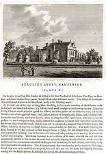 1787 Original Print; Beaulieu Abbey, Hampshire