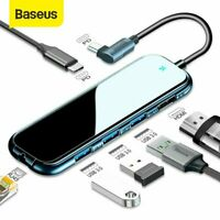 Baseus USB3.0 HUB Type C to HDMI 4K RJ45 SD/TF PD Charge Adapter for MacBook Pro