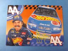 HOT WHEELS KYLE PETTY #44 NASCAR RACING GREETING CARD VINTAGE BIO AUTOGRAPH