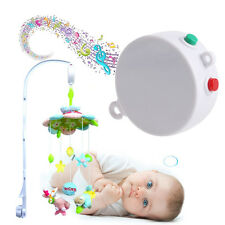 12 Melodies Song Baby Kids Mobile Crib Bed Bell Electric Autorotation Music Box