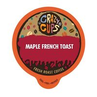 Crazy Cups Flavored Coffee for Keurig K Cups Coffee 2.0 Maple French Toast 22 Ct