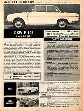 "AUTOMOBILES "" AUTO UNION DKW F 102 "" ADP 1966"