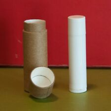 100 Kraft Lip Balm Tubes .3 oz 1/3 oz Eco Friendly Cardboard Containers