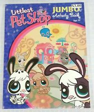 New Littlest Pet Shop Coloring Book Hasbro 2006 Jumbo Activity 96 Pages Mint