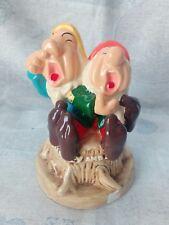 Vintage collezione statua ceramica Disney Sette Nani Biancaneve Sneezy Sleepy