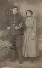WW1 soldier with Wife or Sister ? Unknown regiment P & B Thomas