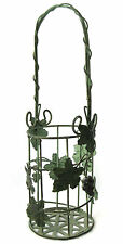 Wire Wine Bottle Carrier Grapes and Leaves