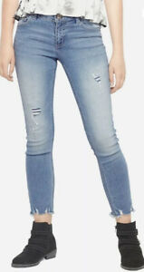 NWT Size 16 Justice destructed super skinny jeans MID RISE Ultra stretchy