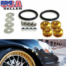 Gold JDM Quick Release Fasteners For Car Bumpers Trunk Fender Hatch Lids Kit