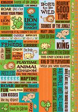 Reminisce JUNGLE KITTIES QUOTES BIG Sticker Sheet scrapbooking
