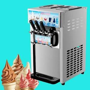 1200W Softeismaschine Eiscreme Frozen Yogurt Maschine Speiseeismaschine 3 Sorten