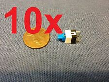 10 Pieces - (6 PIN Latching 7x7mm Mini Tactile Push Button Switch On-Off DIP c14