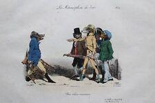 GRANDVILLE Vilaine Commission planche 10 Métamorphoses RARE 1e ed. 1828 BULLA