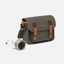 NEW Herringbone Camera Shoulder Mini Bag for Compact DSLR / Accessories (Olive)