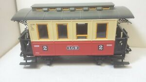 LGB G Scale Passenger Coach Used Red and Yellow