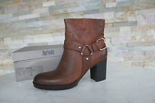 Bprivate Taglia 38 Stivaletti BOOTIES ANKLE BOOTS SCARPE VINTAGE g1402p Brown NUOVO