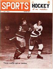 1963 (Jan.) Sports Le Hockey Magazine, Gordie Howe, Detroit Redwings ~ VG
