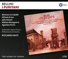 CABALLE/KRAUS/MUTI/POL - I PURITANI HOME OF OPERA 3 CD NEU BELLINI,VINCENZO