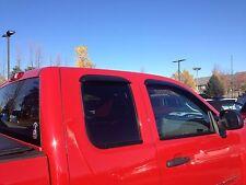 GMC Sierra Extended Cab Side Window Deflector Rain Guard 2007-2013 JSP 218095