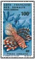 Timbre Poissons Cote des Somalis PA55 * lot 26564
