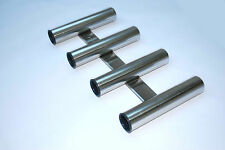 4 Fishing Rod Holder AISI 316 Stainless Steel Wall Mounting 220mm x 420mm