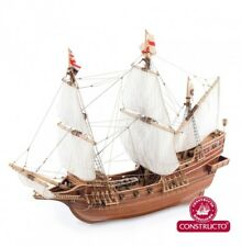"""New, elegant wooden model ship kit by Constructo: the """"Golden Hind"""""""