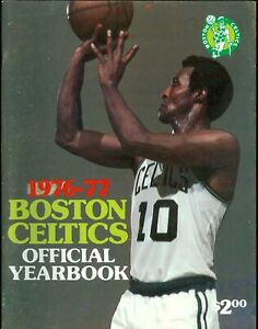 1976-77 Boston Celtics Official Team Yearbook - Jo Jo White on Cover
