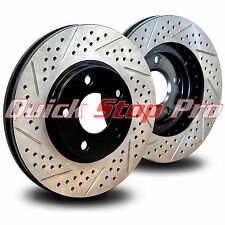 INF033RD Q50S Q50h Q70 QX70 Sport Performance Brake Rotor Rear Pair Double Drill