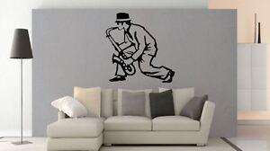 Wall Sticker Ska Style Ska Man and Sax Musical Mod Vinyl wall art Decal
