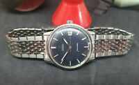 VINTAGE 1968 OMEGA SEAMASTER BLACK DIAL DATE AUTO CAL:565 SS STRAP MAN'S WATCH