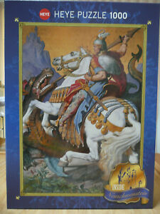 HEYE PUZZLE. ST. GEORGE 1000 PIECES - BOX BEEN OPENED BUT PUZZLE PIECES SEALED