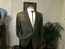PENDLETON WESTERN COWBOY TWEED MENS SPORTS COAT JACKET BLAZER SIZE: 46L  #B4