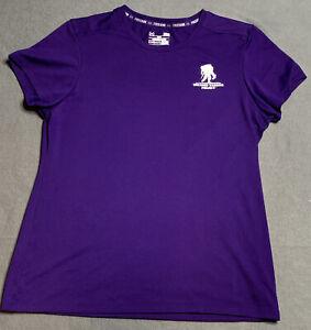 Women's Under Armour Heatgear Crew Neck Shirt Wounded Warrior Project Purple L