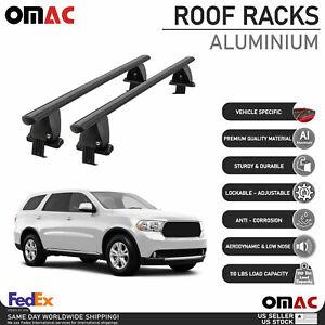 Fits Dodge Durango 2011-2021 Smooth Top Roof Rack Cross Bar Cargo Carrier Black