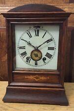 RARE ANTIQUE W & H SCH WINTERHALDER & HOFMEIER BLACK FOREST BRACKET CLOCK