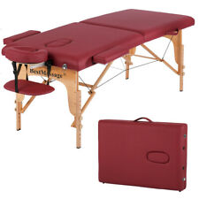 Refurbrished BestMassage Burgundy Pu Portable Massage Table w/Free Carry Case