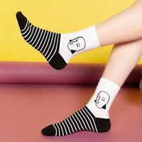 Cool Women Funny Head Patterned Short Socks Cotton Hipster Ankle Harajuku Sox DP