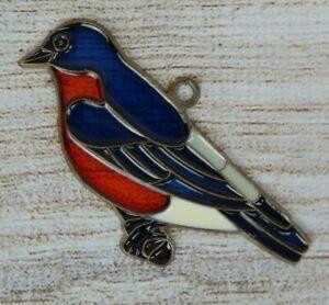 Vintage Suncatcher Eastern Bluebird Window Decoration Ornament Nature Bird