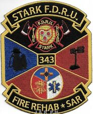 """Stark F.D.   Fire Rehab / S.A.R., OH  (4"""" x 5"""" size) fire patch"""