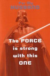 Husband Birthday Card - Darth Vader Star Wars