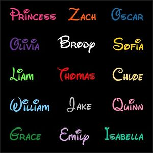 2 x Personalised Names / Words Decals Stickers Car Laptop Window Wall Vinyl |CA4