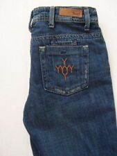 "$174 NWT YANUK Distressed 6 Pocket WORKER BOYFRIEND Boot Cut Jeans 25 35"" Ins"