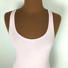 Old Navy Womens Athletic Tank Top Medium M Pink Stretch Fitted Racerback Cotton